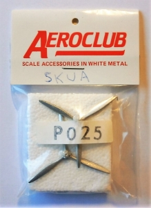 AEROCLUB 1/72 P025 2 x 1/72 DH 3BLD 2 POS BRKT 12  DIA L/H