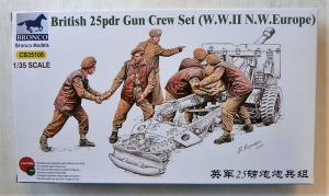 BRONCO 1/35 35108 BRITISH 25pdr GUN CREW SET  WWII NW EUROPE