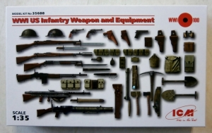 ICM 1/35 35688 WWII US INFANTRY WEAPONS   EQUIPMENT