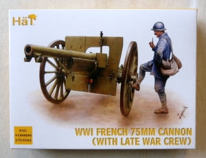 HAT INDUSTRIES 1/72 8161 WWI FRENCH 75mm CANNON  WITH LATE WAR CREW