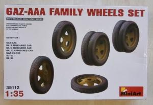 MINIART 1/35 35112 GAZ AAA FAMILY WHEELS SET