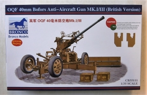 BRONCO 1/35 35111 OQF 40mm BOFORS ANTI-AIRCRAFT GUN Mk.I/III  BRITISH VERSION