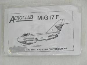 AEROCLUB 1/72 MiG-17F CONVERSION KIT