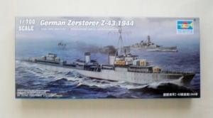 TRUMPETER 1/700 05789 GERMAN ZERSTORER Z-43 1944
