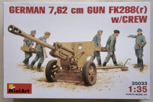 MINIART 1/35 35033 GERMAN 7.62cm GUN FK288  r  WITH CREW