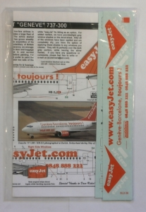 0 1/200 1325. SWISS EASYJET GENEVE 737-300