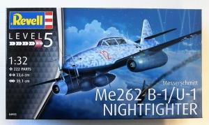 REVELL 1/32 04995 MESSERSCHMITT Me 262 B-1/U-1 NIGHTFIGHTER