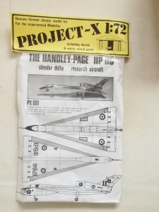 PROJECT X 1/72 PX-001 HANDLEY PAGE HP 115
