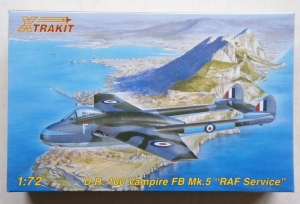 XTRAKIT 1/72 72008 DH 100 VAMPIRE FB Mk.5 RAF SERVICE