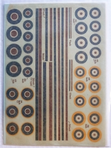 MODELDECAL 1/72 726. 40 WW2 BRITISH ROUNDELS   FIN FLASHES TYPES A A1 C   C1
