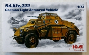 ICM 1/72 72411 Sd.Kfz.222 GERMAN LIGHT ARMOURED VEHICLE