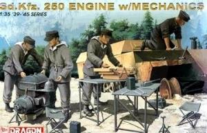 DRAGON 1/35 6112 Sd.Kfz.250 ENGINE w/MECHANICS