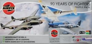 AIRFIX 1/72 08656 MESSERSCHMITT Bf 109G-6 / P-38F/H /P-51-D/K 90 YEARS OF FIGHTERS