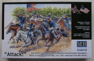 MASTERBOX 1/35 3550 US CIVIL WAR ATTACK OF THE 8th PENNSYLVANIA CAVALRY