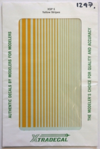 XTRADECAL  1297. YELLOW STRIPES ONE SHEET