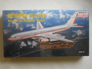 MINICRAFT 1/144 14463 BOEING 757-200 AMERICAN AIRLINES RETRO
