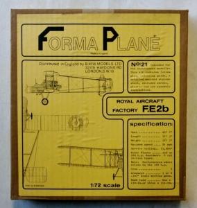 FORMAPLANE 1/72 21 ROYAL AIRCRAFT FACTORY FE2b