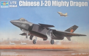 TRUMPETER 1/72 01663 CHINESE J-20 MIGHTY DRAGON