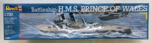 REVELL 1/720 5065 HMS PRINCE OF WALES BATTLESHIP
