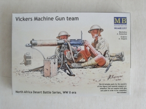 MASTERBOX 1/35 3597 VICKERS MACHINE GUN TEAM NORTH AFRICA DESERT