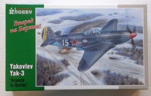 SPECIAL HOBBY 1/32 32011 YAKOVLEV YAK-3 ONWARD TO BERLIN