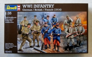 REVELL 1/35 02451 WWI INFANTRY GERMAN/BRITISH/FRENCH 1914