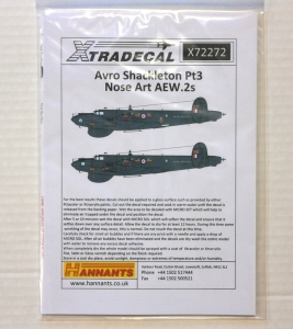 XTRADECAL 1/72 72272 AVRO SHACKLETON Pt3 NOSE ART AEW.2s