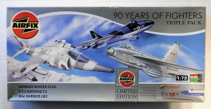 AIRFIX 1/72 08657 HUNTER FGA9/EE LIGHTNING F3/HARRIER GR3
