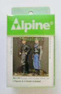 ALPINE MINIATURES 1/35 35119 RUSSIAN AFV CREW 44/45 SET