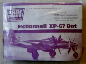 RAREPLANE 1/72 MCDONNELL XP-67 BAT