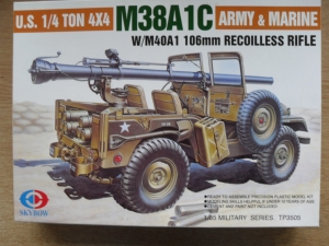 SKYBOW 1/35 3505 M38A1C WITH 106mm RECOILESS RIFLE
