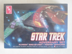 AMT OTHER SCALE 752 STAR TREK ADVERSARY SET KLINGON BIRD OF PREY/FERENGI MARAUDER