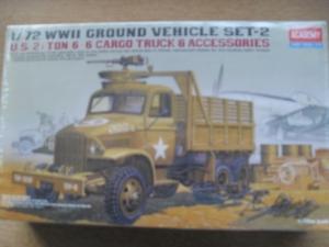 ACADEMY 1/72 13402 US 2.5 TON 6x6 CARGO TRUCK