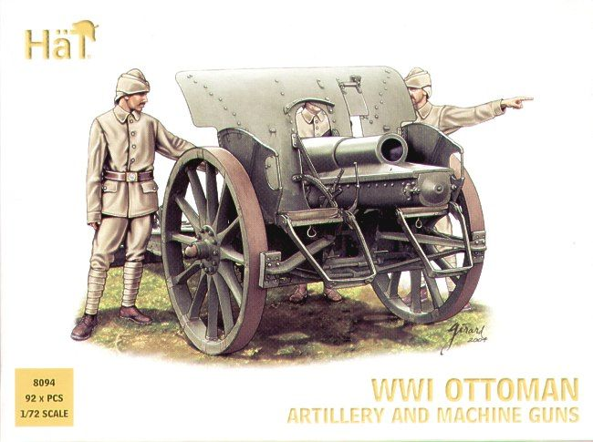 HAT INDUSTRIES 1/72 8094 WWI OTTOMAN ARTILLERY AND MACHINE GUNS