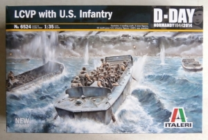 ITALERI 1/35 6524 LCVP WITH US INFANTRY D-DAY NORMANDY 1944
