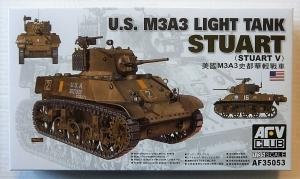 AFV CLUB 1/35 35053 M3A3 STUART LIGHT TANK
