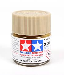 TAMIYA  81531 X-31 TITAN GOLD ACRYLIC PAINT  UK SALE ONLY