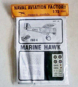 ESOTERIC 1/72 NAF-18 CURTISS F6C-4 MARINE HAWK