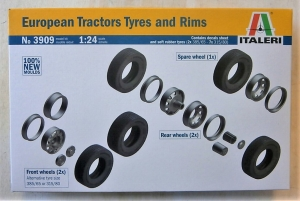 ITALERI 1/24 3909 EUROPEAN TRACTORS TYRES AND RIMS