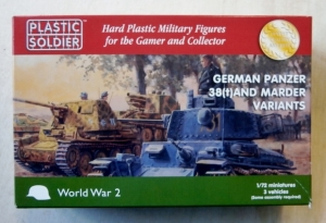 PLASTIC SOLDIER 1/72 WW2V20019 GERMAN PANZER 38 t    MARDER VARIANTS