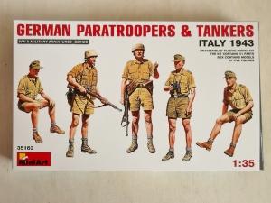 MINIART 1/35 35163 GERMAN PARATROOPERS   TANKERS ITALY 1943