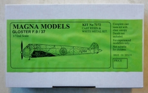 MAGNA 1/72 7172 GLOSTER F.9/37