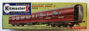 KITMASTER ROSEBUD HO/OO 15 BRITISH RAILWAYS STANDARD CORRIDOR BRAKE 2ND GREEN  SOUTHERN REGION