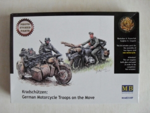 MASTERBOX 1/35 3548F GERMAN MOTORCYCLE TROOPS ON THE MOVE