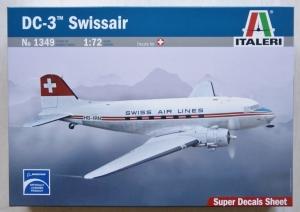 ITALERI 1/72 1349 DC-3 SWISSAIR