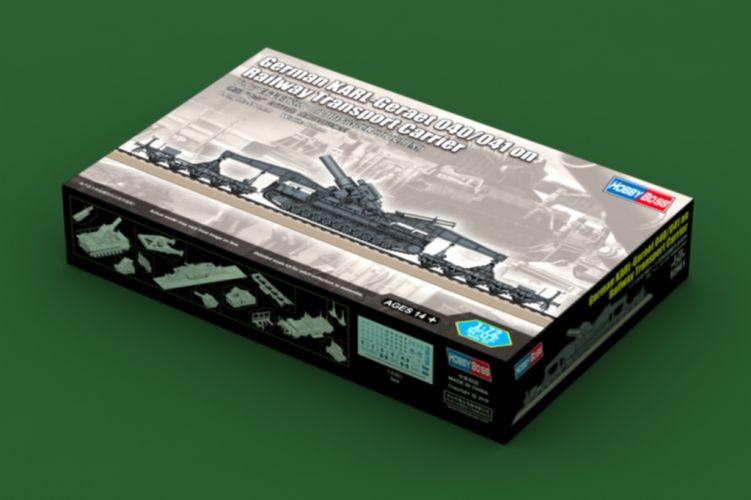 HOBBYBOSS 1/72 82961 GERMAN KARL-GERAET 040/041 ON RAILWAY TRANSPORT CARRIER