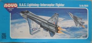 NOVO 1/72 78089 BAC LIGHTNING F-6