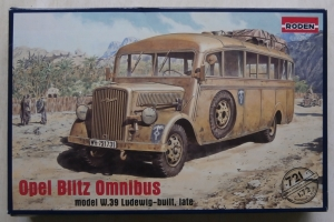 RODEN 1/72 721 OPEL BLITZ OMNIBUS MODEL W.39 LUDEWIG-BUILT LATE