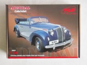 ICM 1/24 24021 ADMIRAL CABRIOLET WWII GERMAN PASSENGER CAR
