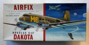AIRFIX 1/72 483 DOUGLAS C-47 DAKOTA  MILITARY/SILVER CITY  TYPE II BOXING